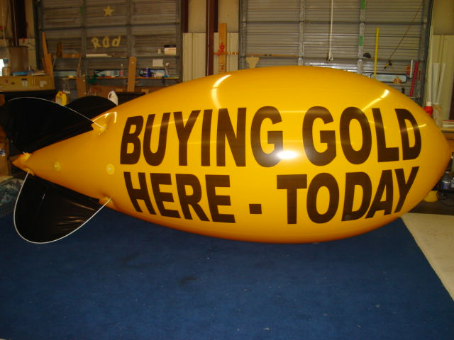 17ft. blimp with artwork - hundreds of advertising blimps in stock for sale