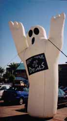 Halloween inflatables - ghost inflatables for sale and rent.