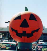 Halloween Balloons - cold-air inflatables and Halloween helium balloons available.